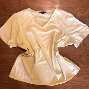 LANDS END YELLOW TEE SIZE XL